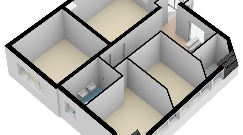 Hovenstraat 47 Landgraaf - Verdieping 3D